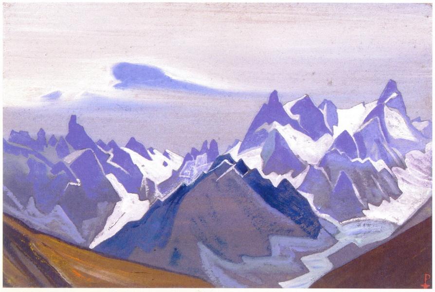 Гималаи. [Гряда скалистых пиков] 1938